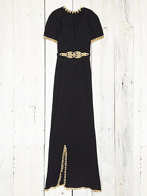 Vintage Black and Gold Dress