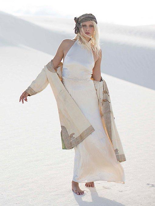 Vintage 1940s Silk Gown