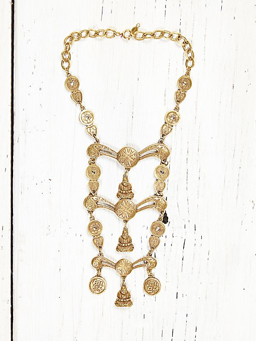 Vintage Gold Ladder Necklace