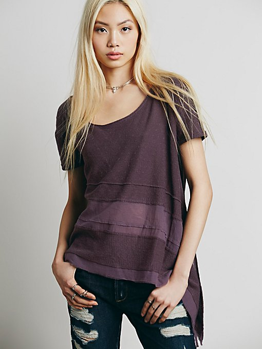 Asymmetrical Washed Tee