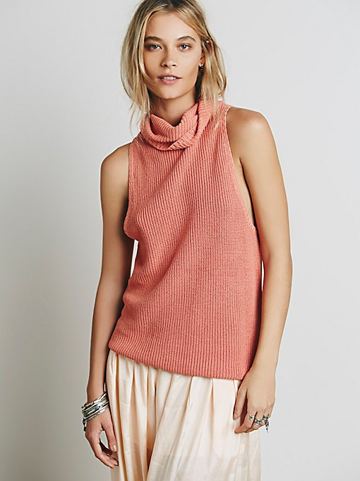 Sleeveless Rollneck Sweater Tank