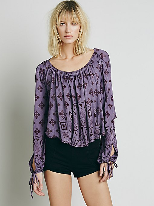 Dazed Printed Top