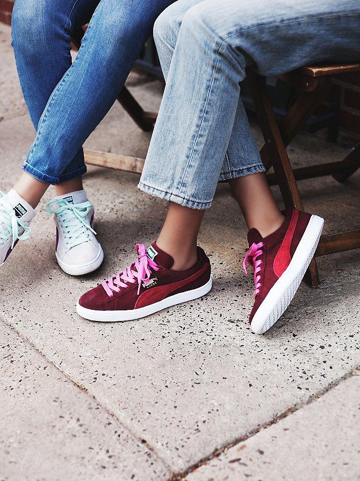 womens puma suede classic sneaker red