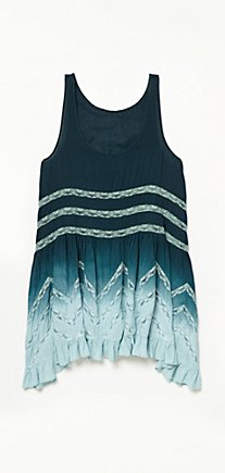 Color Washed Voile and Lace Slip