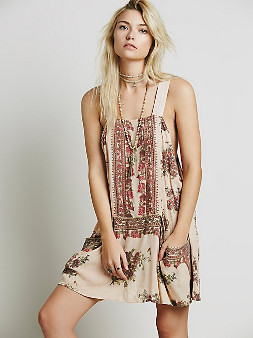 Sleeveless Border Print Tunic