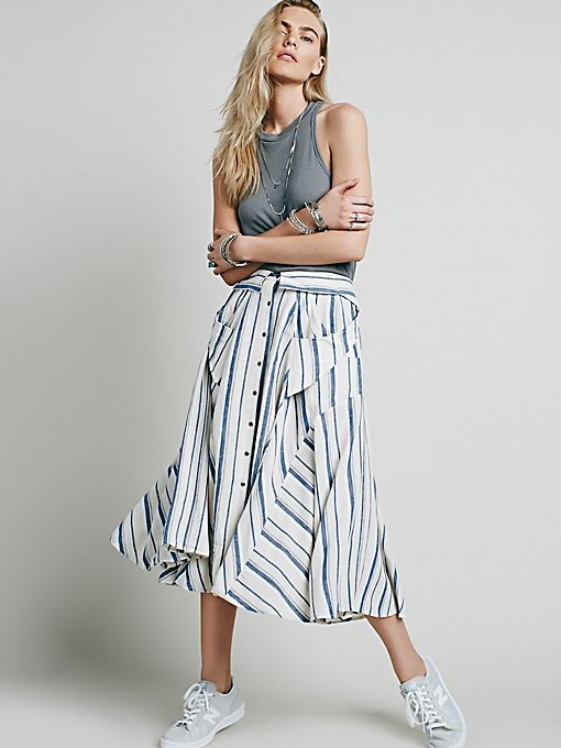 Boardwalk Babe Midi Skirt