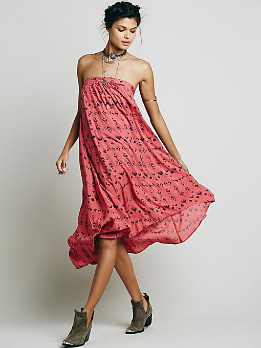 Washed Ashore Strapless Dress