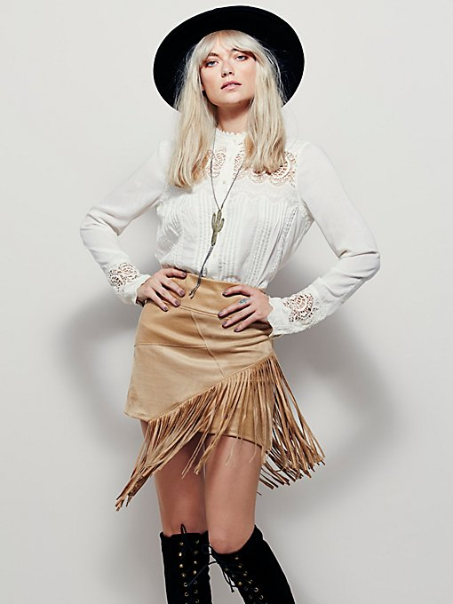 Vegan Fringe Mini Skirt