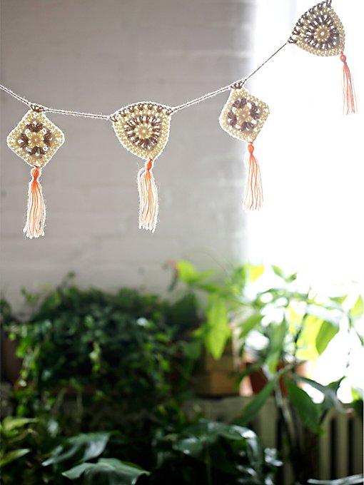 Crochet Tassel Garland