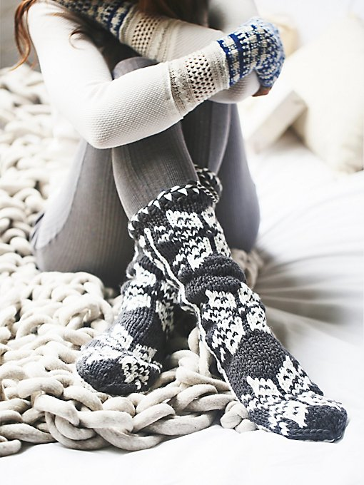 Winter Flurries Slipper Sock