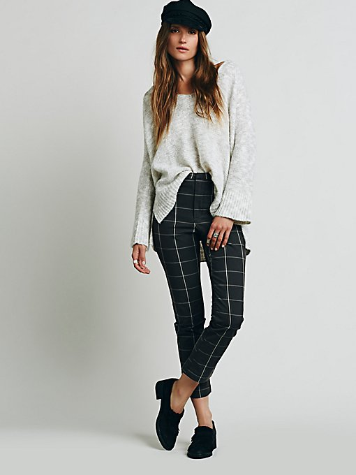 High Waisted Cropped Flare