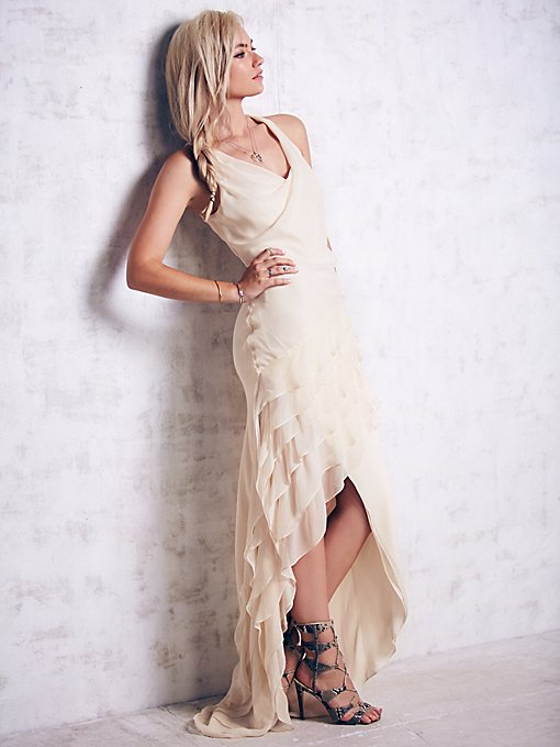 Multi Layered Chiffon Dress