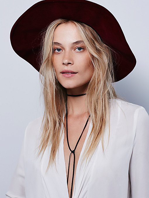 Velvet Wide Brim Hat