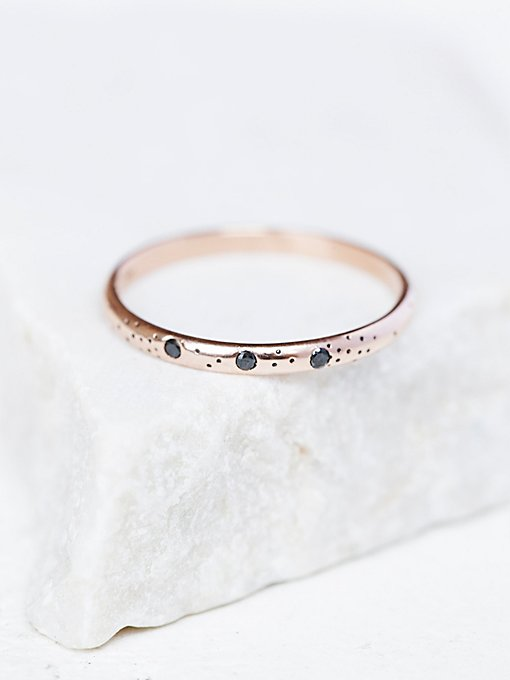 Speckled Triple Diamond Ring