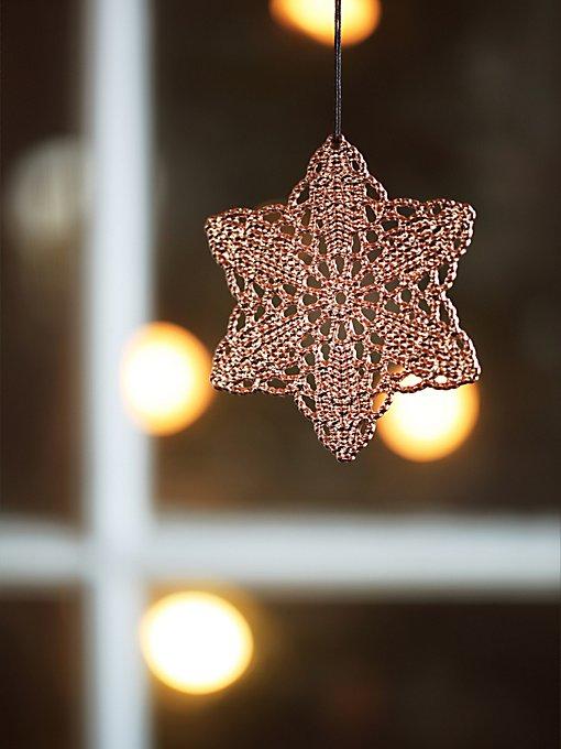 Crochet Metal Snowflake