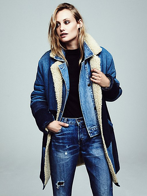 Sherpa Bonded Denim Coat