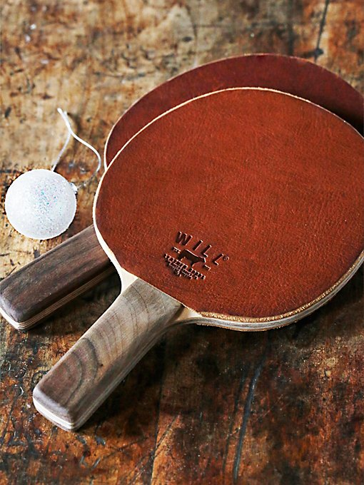 Leather Ping Pong Paddle