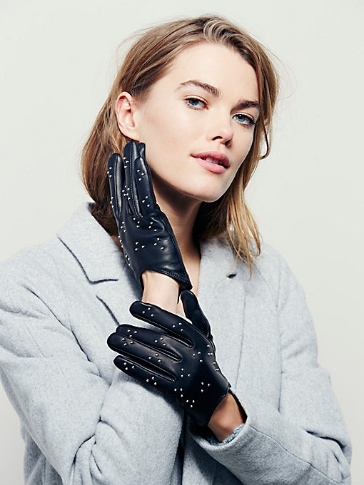 Heartbreaker Studded Leather Gloves
