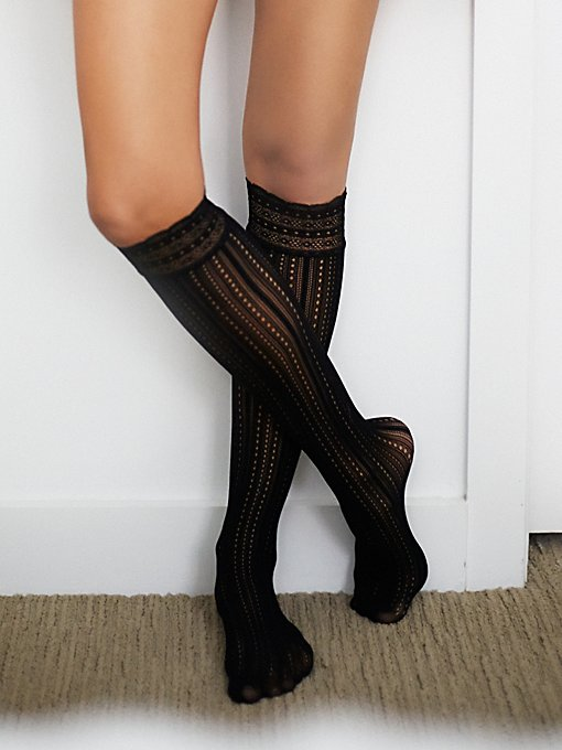 Inner Dot Knee Sock