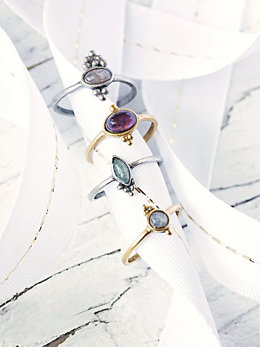 Crystal Friendship Ring Set