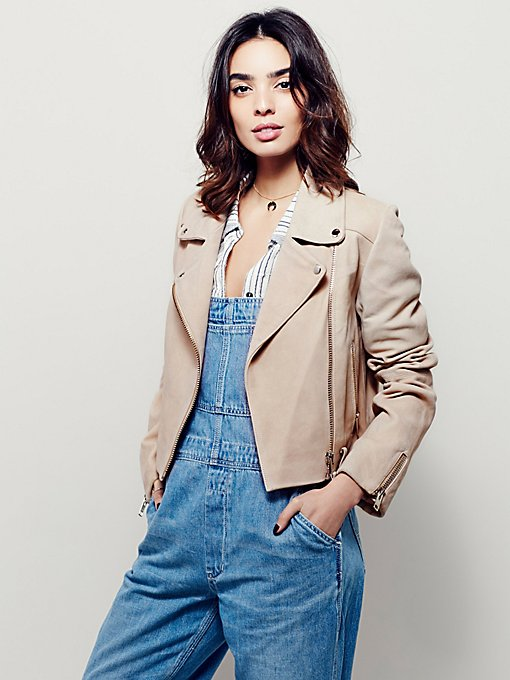 Size Me Up Cropped Suede Jacket