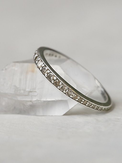 Champagne Diamond Band Ring
