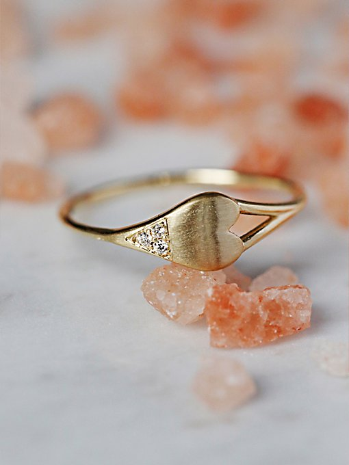 Diamond Dipped Heart Ring