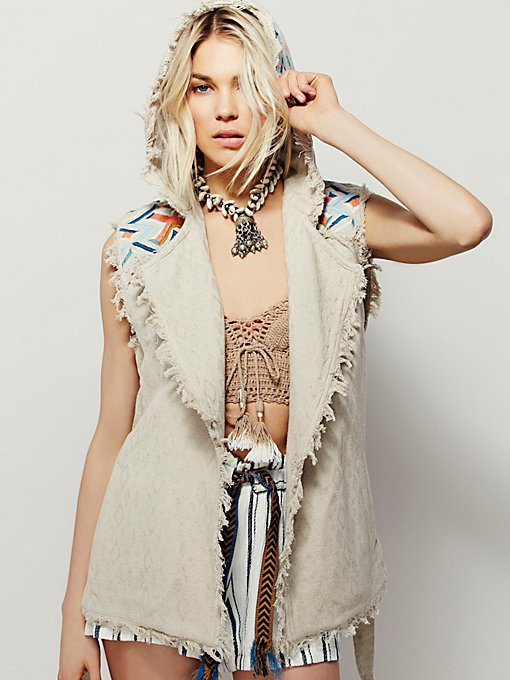 Embroidered Modern Wrap Vest