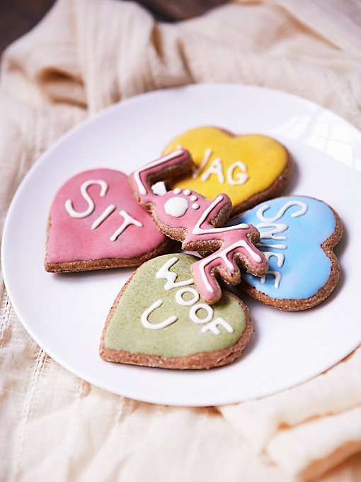 Valentine Cookie Dog Treat Set
