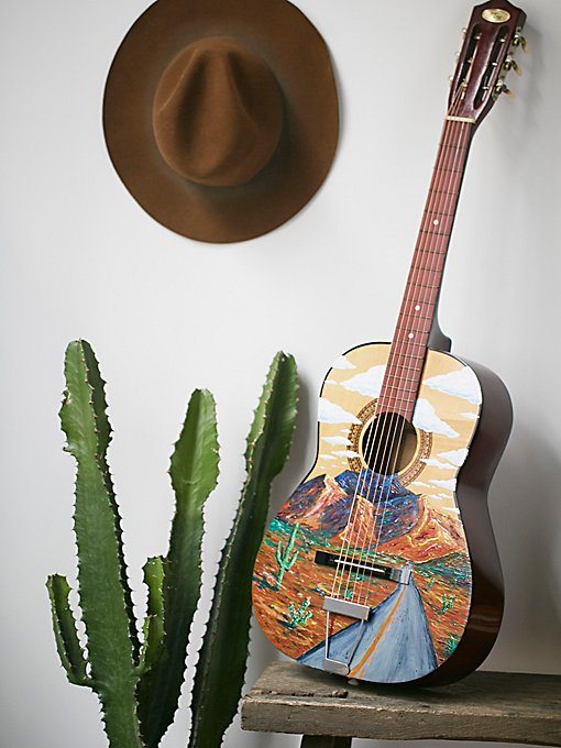 Handpainted Vintage Guitar