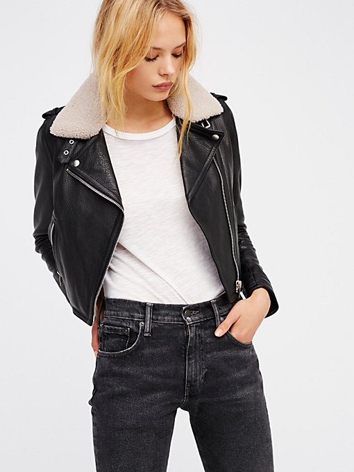 Black dress leather jacket 70s