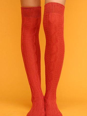 Cable Over-the-Knee Socks