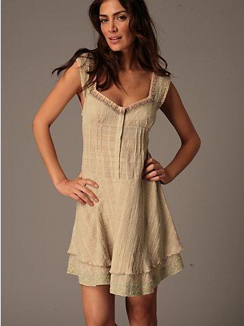 Bon Sai Pin Tuck Dress