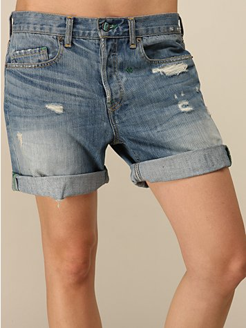 Billie Distressed Cuff Short by Genetic