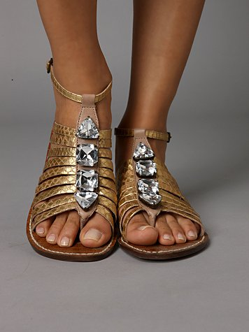 Gold Crystal Sandal