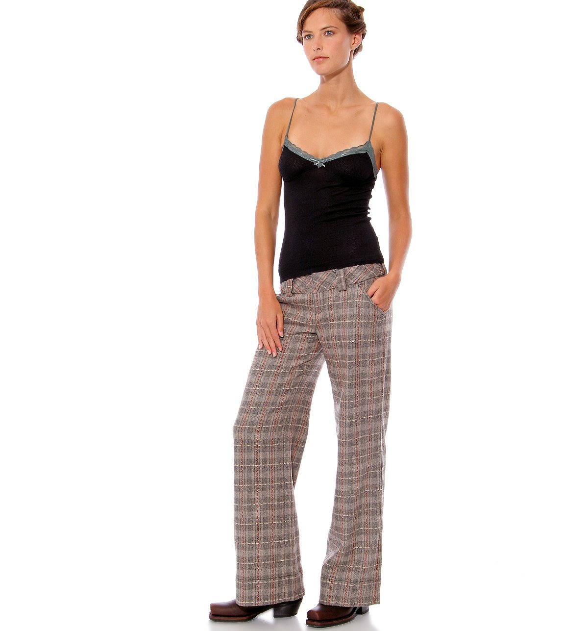 Heathered Tartan Trouser