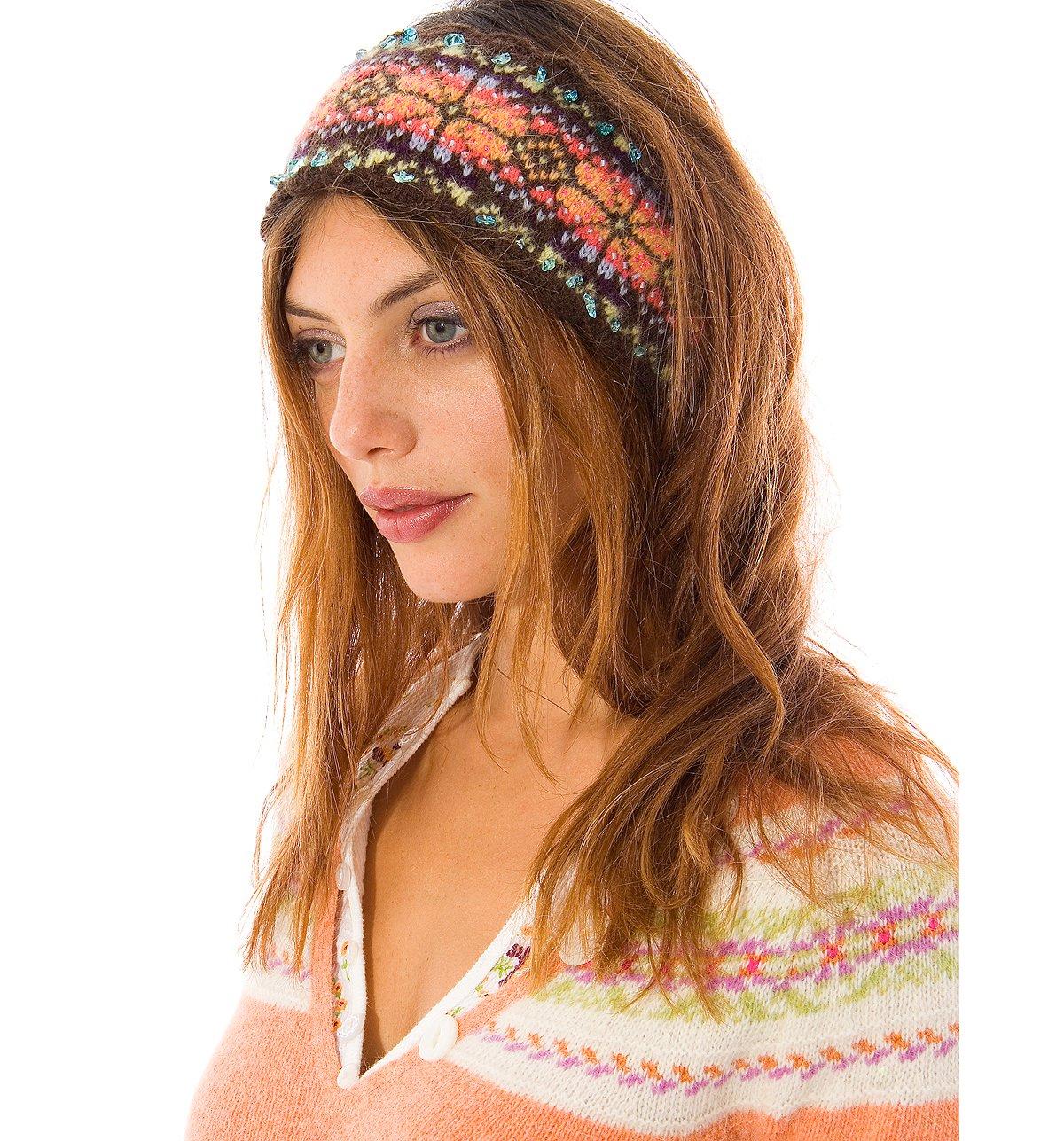 Snowflake Beaded Headband