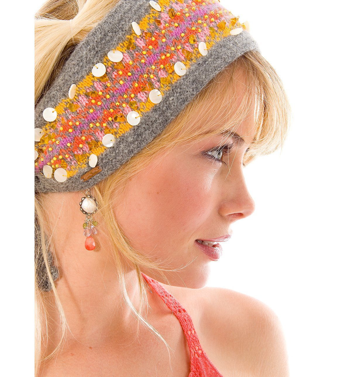 Fairisle Beaded Headband