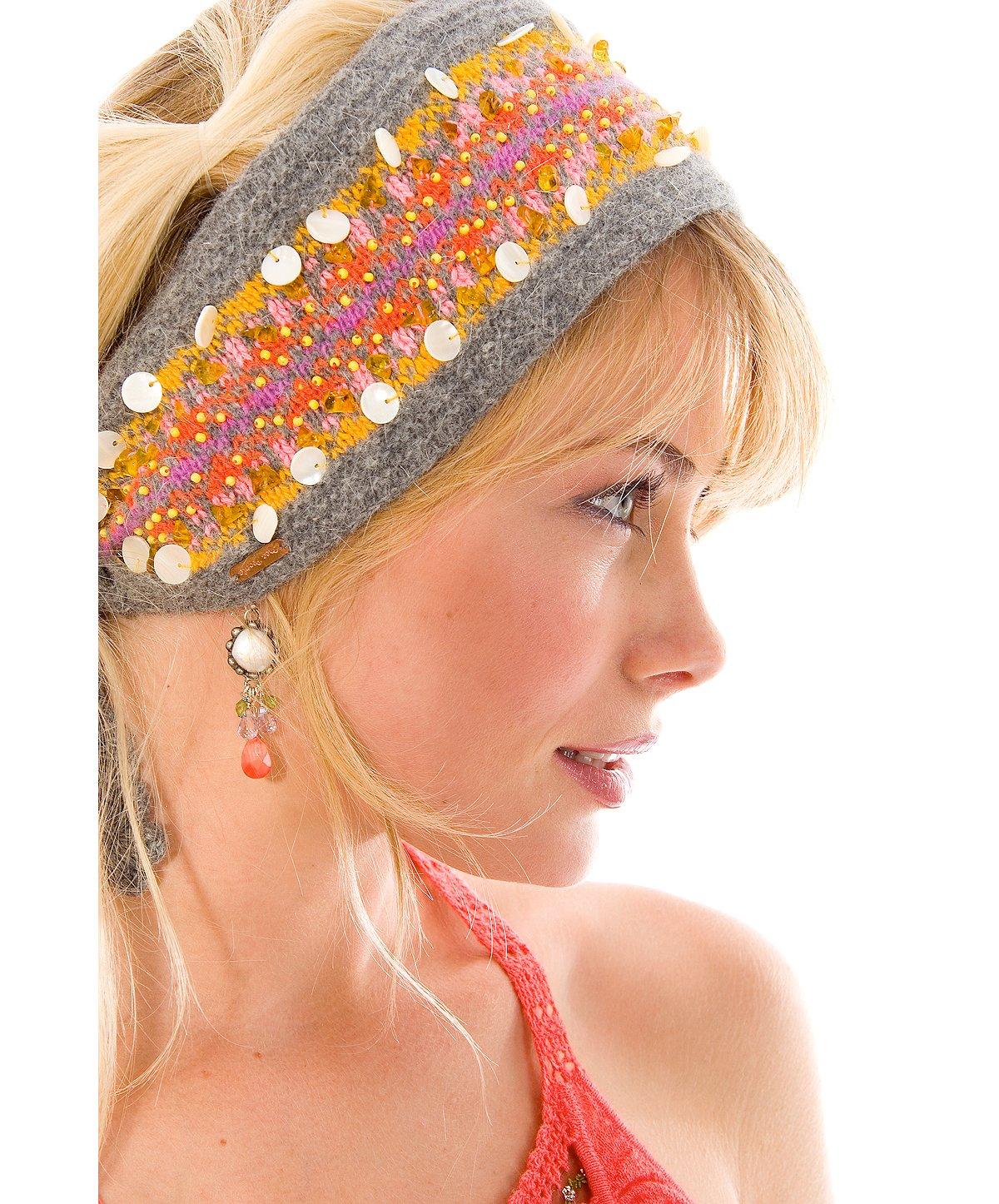 Fairisle Beaded Headband
