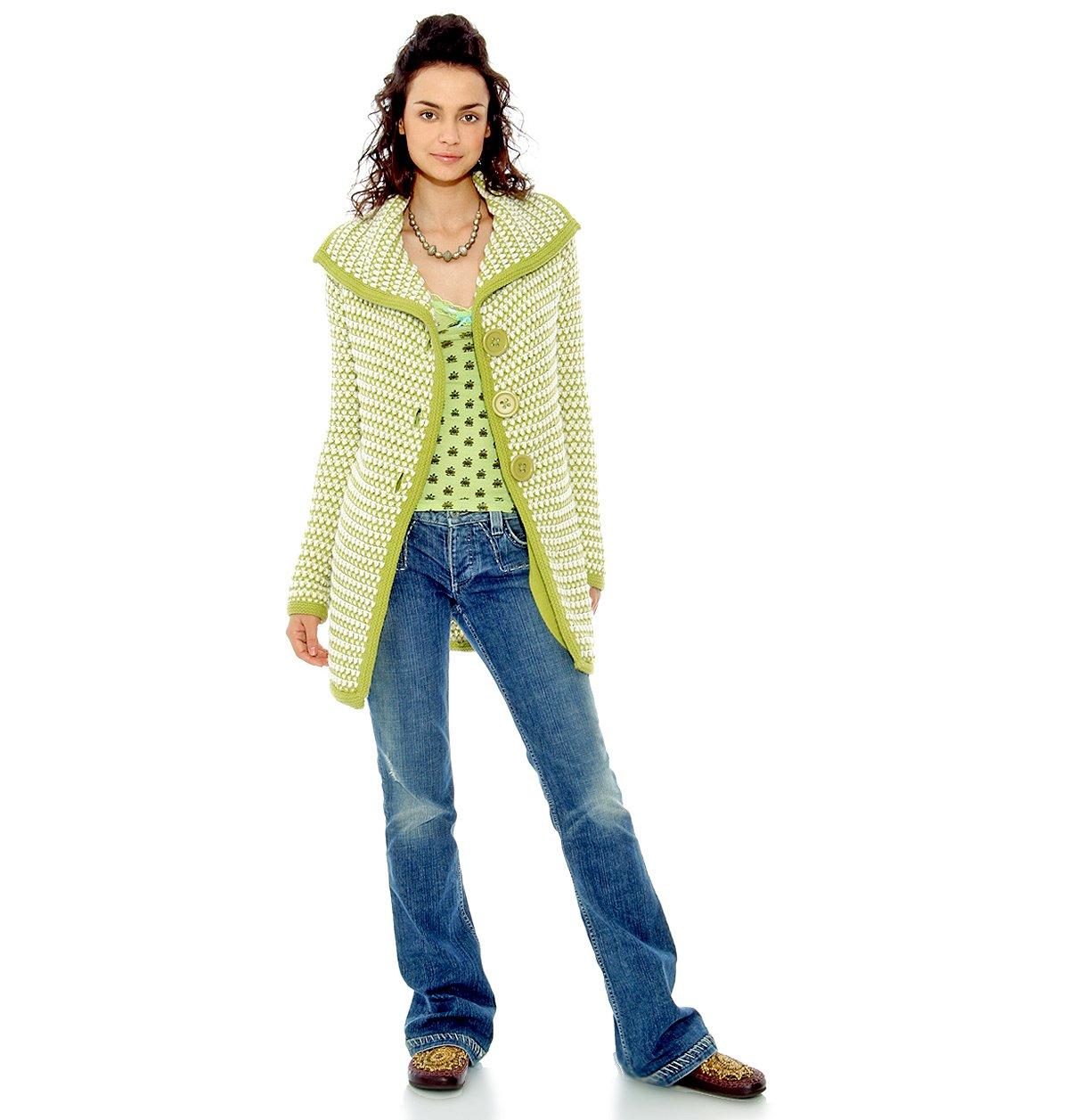 Waffle Sweater Coat