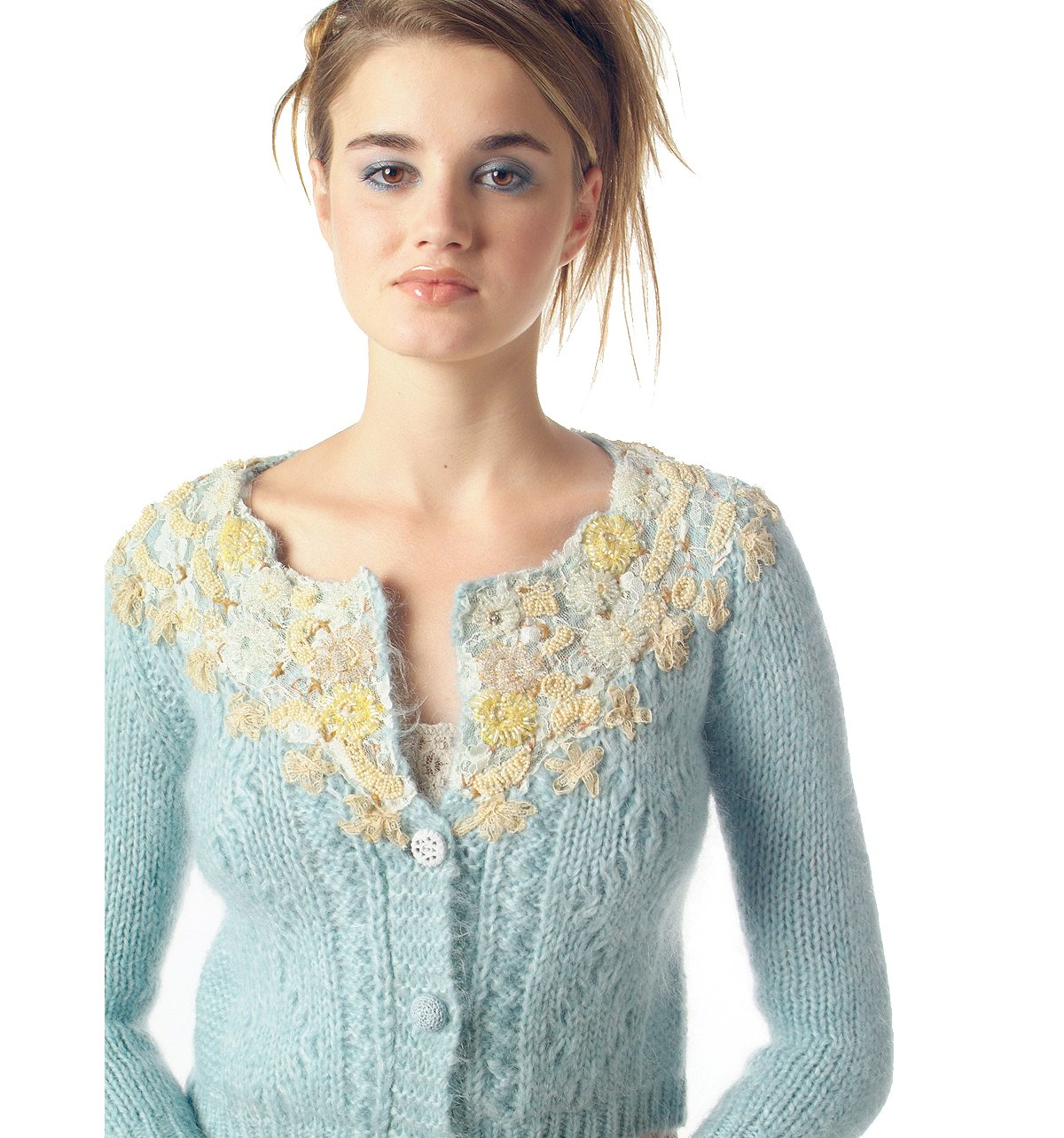 Patchwork Pearls Mohair Cardigan