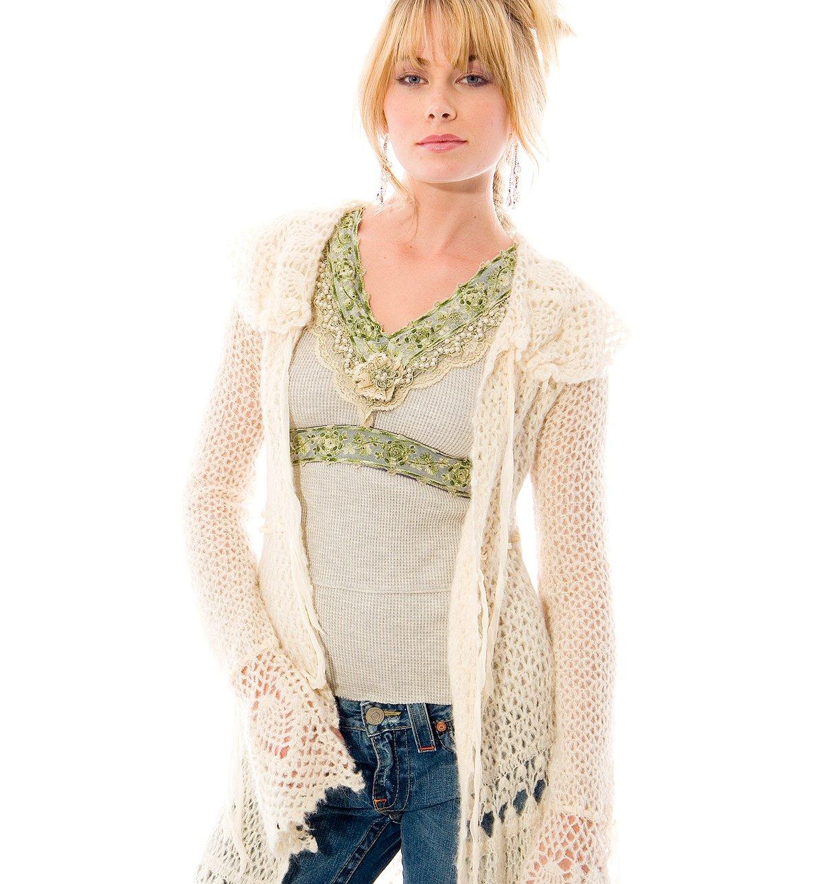 Sleeping Beauty Crochet Sweater Coat