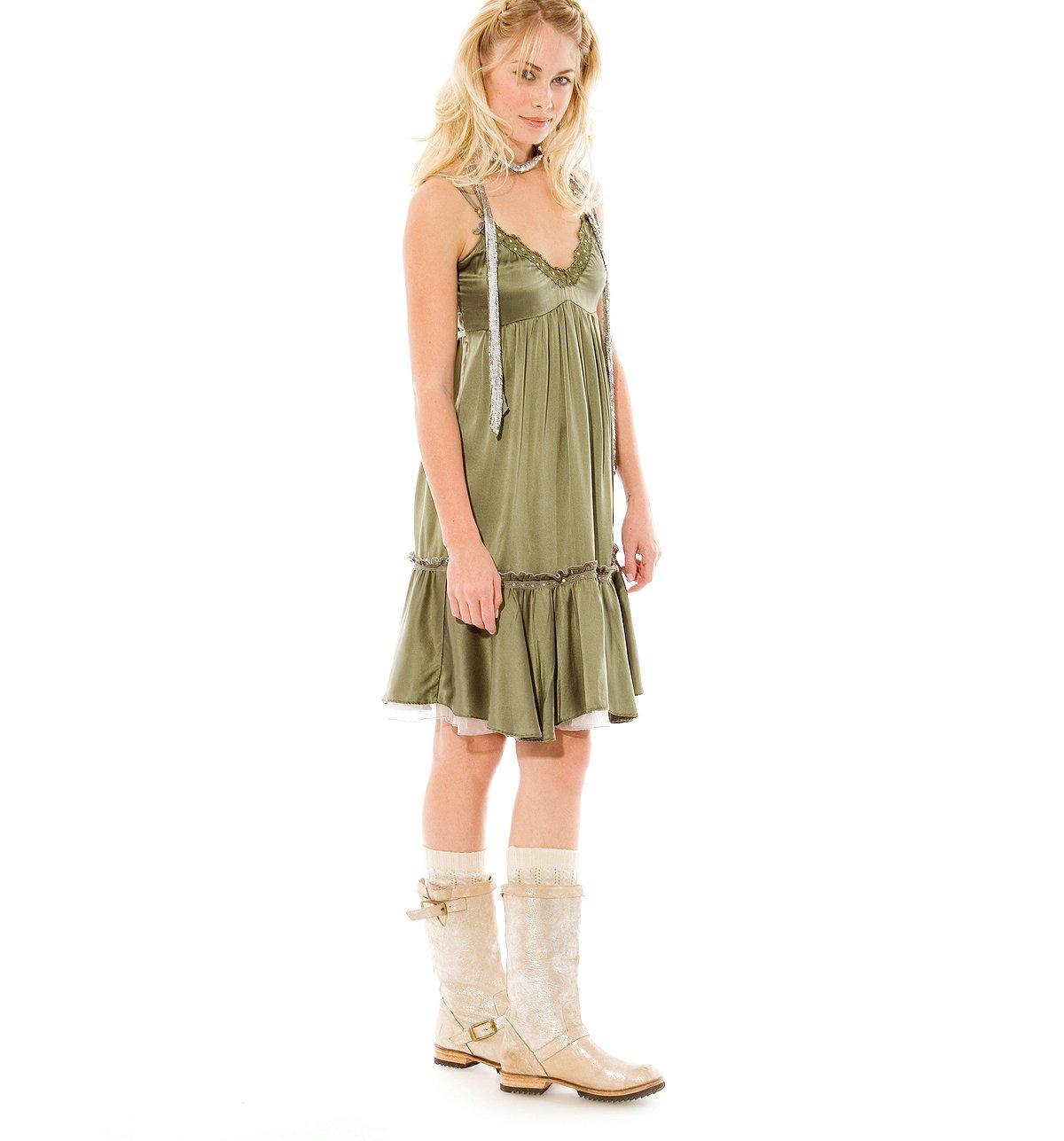 Ice Princess Silk Babydoll Dress