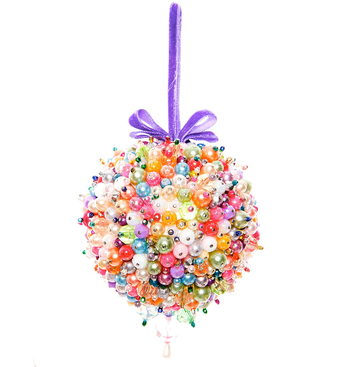 Crazy Beaded Ball Ornament