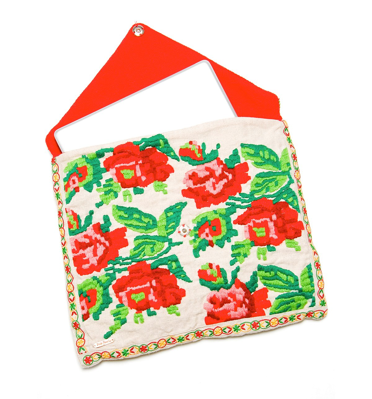 Embroidered Roses Laptop Cozy