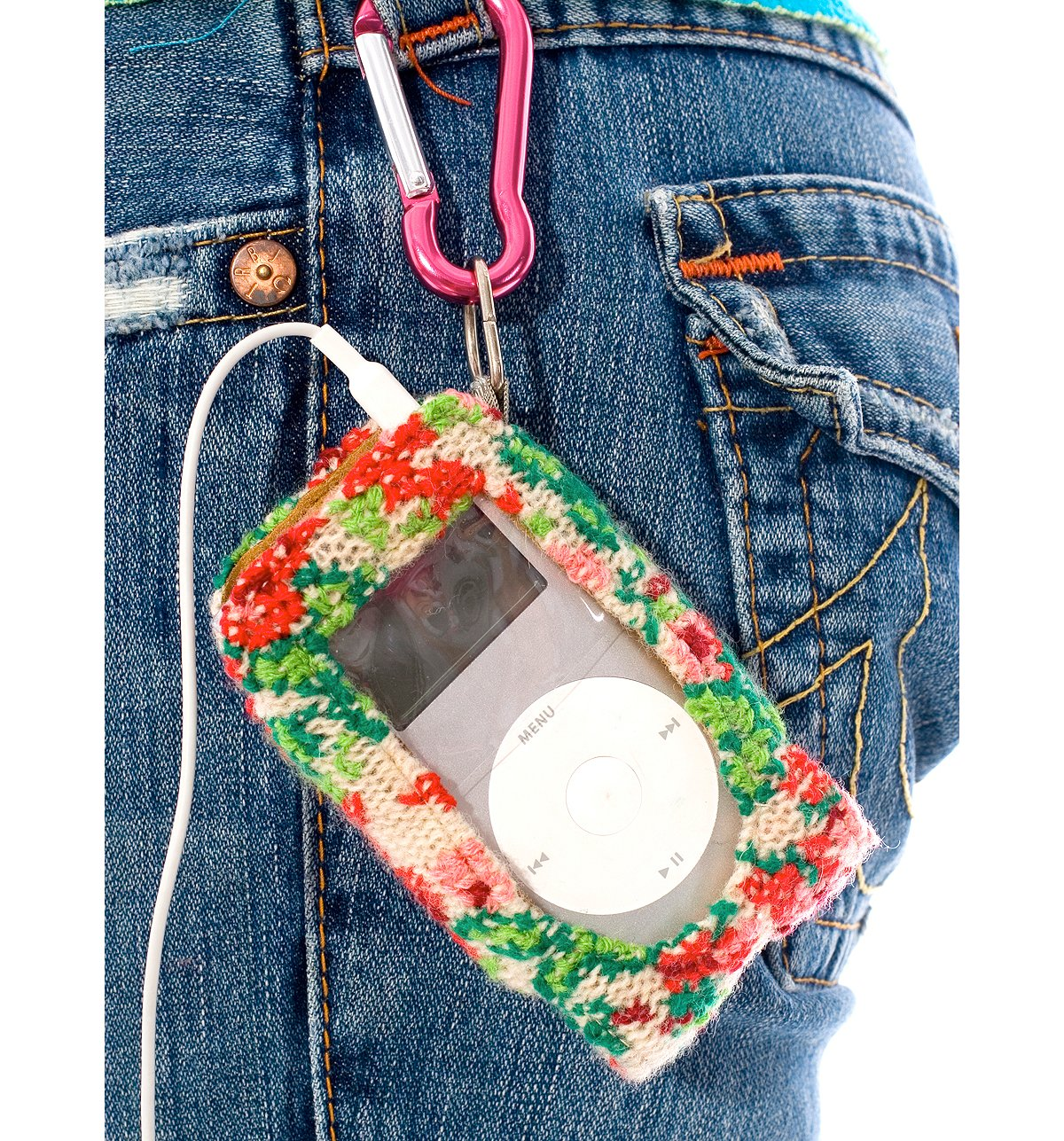 Embroidered Roses Mini Ipod Holder