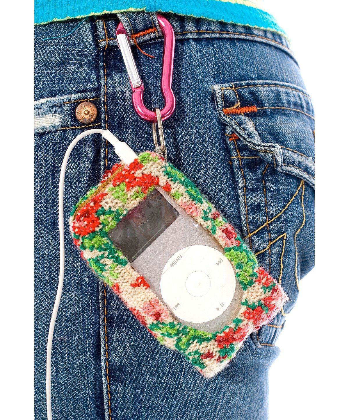 Embroidered Roses Mini Ipod Holder