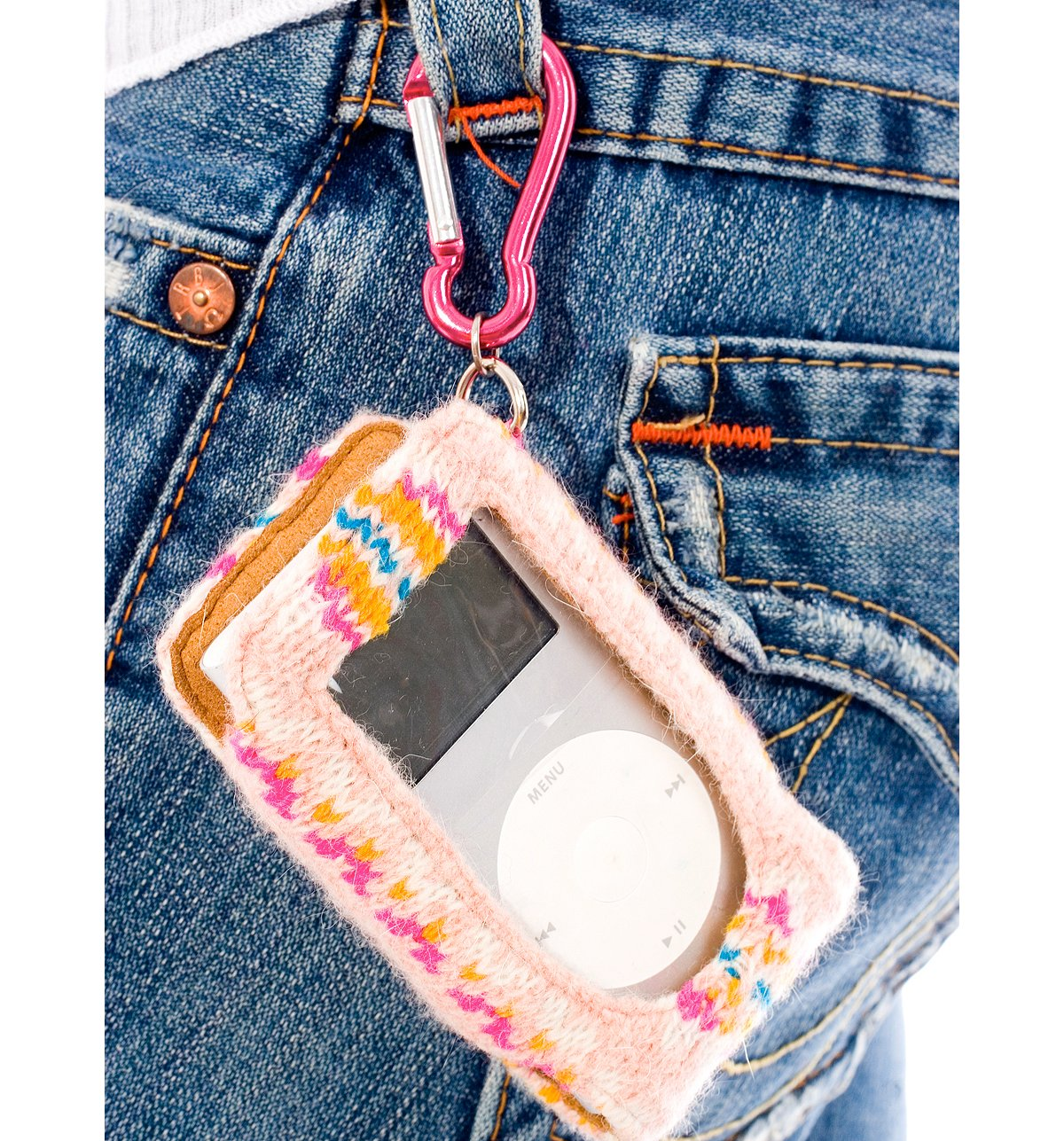Mini Bead Fairisle Ipod Holder