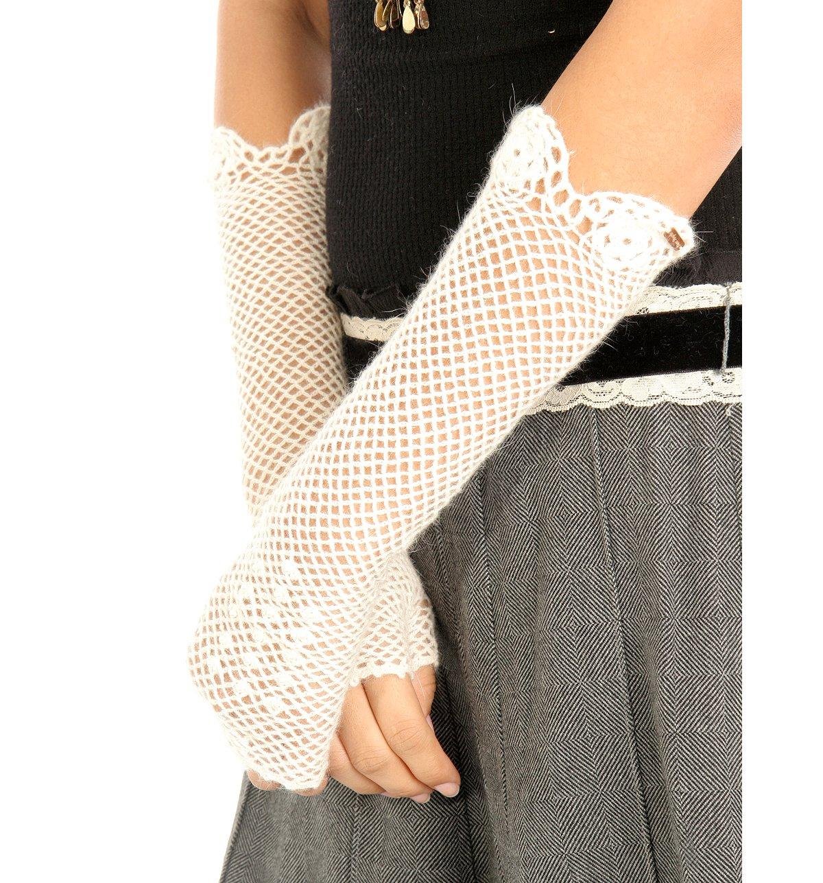 Fishnet Crochet Fingerless Gloves