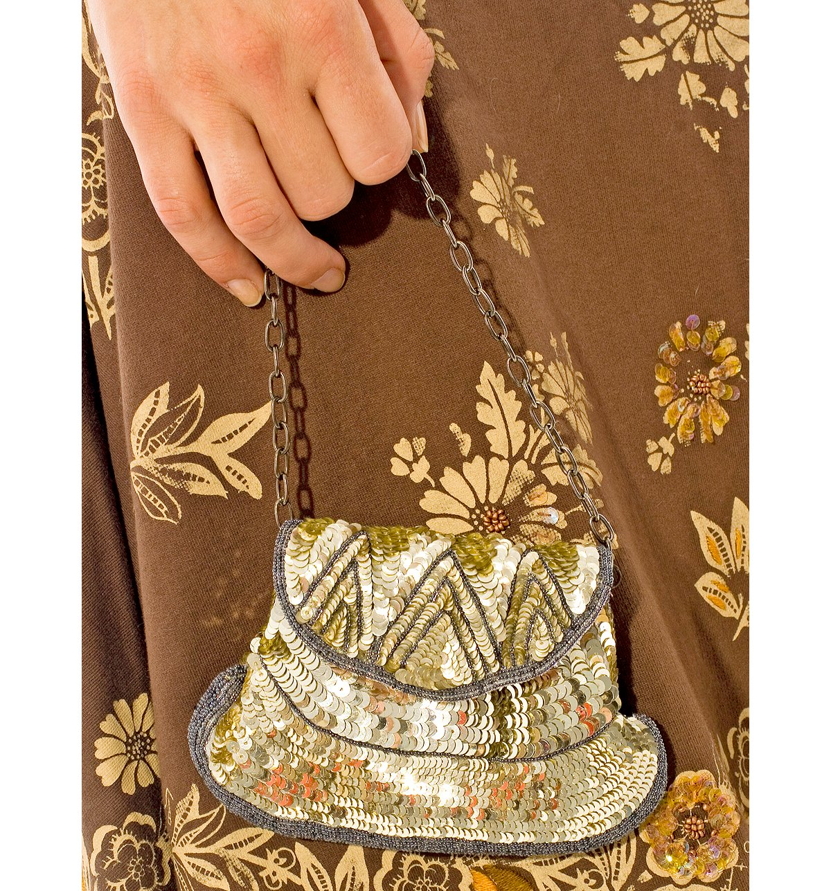 Gold Sequin Bead Bag